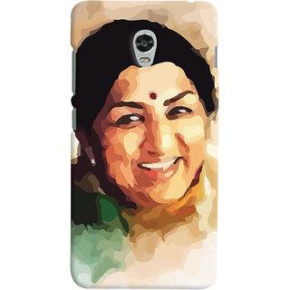 Oyehoye Lenovo Vibe P1 Mobile Phone Back Cover With Lata Mangeshkar - Durable Matte Finish Hard Plastic Slim Case