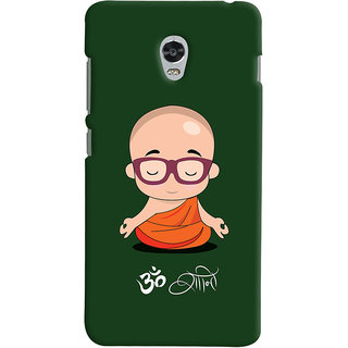 Oyehoye Lenovo Vibe P1 Turbo Mobile Phone Back Cover With Om Shanti Quirky - Durable Matte Finish Hard Plastic Slim Case