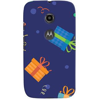 Oyehoye Motorola Moto E2 Mobile Phone Back Cover With Gift Pattern Style - Durable Matte Finish Hard Plastic Slim Case
