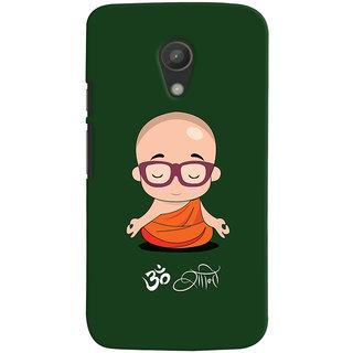 Oyehoye Motorola Moto G2 / Second Generation Mobile Phone Back Cover With Om Shanti Quirky - Durable Matte Finish Hard Plastic Slim Case