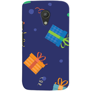 Oyehoye Motorola Moto G2 / Second Generation Mobile Phone Back Cover With Gift Pattern Style - Durable Matte Finish Hard Plastic Slim Case