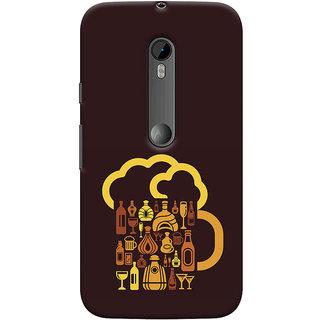 Oyehoye Motorola Moto G3 Mobile Phone Back Cover With Abstract Art - Durable Matte Finish Hard Plastic Slim Case