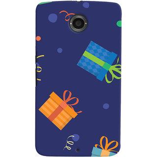 Oyehoye Motorola Google Nexus 6 Mobile Phone Back Cover With Gift Pattern Style - Durable Matte Finish Hard Plastic Slim Case