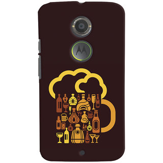 Oyehoye Motorola Moto X2 Mobile Phone Back Cover With Abstract Art - Durable Matte Finish Hard Plastic Slim Case