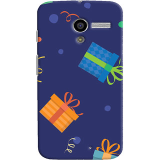 Oyehoye Motorola Moto X Mobile Phone Back Cover With Gift Pattern Style - Durable Matte Finish Hard Plastic Slim Case