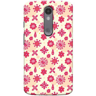 Oyehoye Motorola Moto X Force Mobile Phone Back Cover With Floral Pattern - Durable Matte Finish Hard Plastic Slim Case