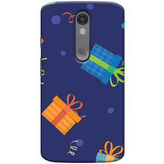 Oyehoye Motorola Moto X Force Mobile Phone Back Cover With Gift Pattern Style - Durable Matte Finish Hard Plastic Slim Case