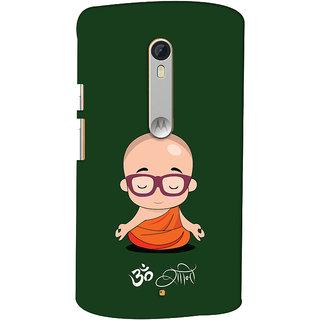 Oyehoye Motorola Moto X Style Mobile Phone Back Cover With Om Shanti Quirky - Durable Matte Finish Hard Plastic Slim Case