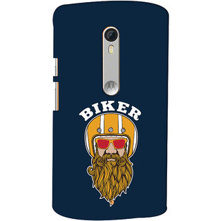 Oyehoye Motorola Moto X Style Mobile Phone Back Cover With Riders Style - Durable Matte Finish Hard Plastic Slim Case
