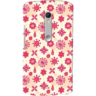 Oyehoye Motorola Moto X Style Mobile Phone Back Cover With Floral Pattern - Durable Matte Finish Hard Plastic Slim Case