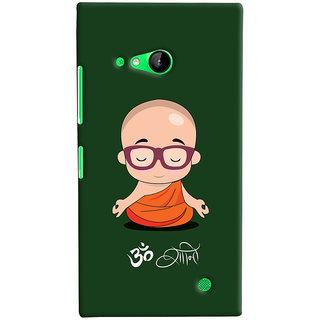 Oyehoye Microsoft Lumia 730 / Dual Sim Mobile Phone Back Cover With Om Shanti Quirky - Durable Matte Finish Hard Plastic Slim Case