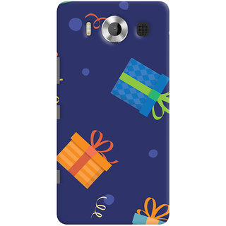 Oyehoye Microsoft Lumia 950 Mobile Phone Back Cover With Gift Pattern Style - Durable Matte Finish Hard Plastic Slim Case