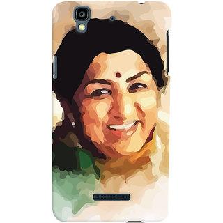 Oyehoye Micromax Yureka Plus Mobile Phone Back Cover With Lata Mangeshkar - Durable Matte Finish Hard Plastic Slim Case
