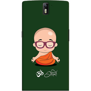 Oyehoye OnePlus One Mobile Phone Back Cover With Om Shanti Quirky - Durable Matte Finish Hard Plastic Slim Case