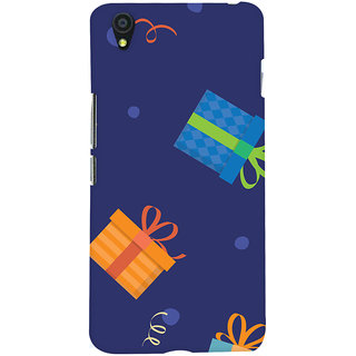 Oyehoye OnePlus X Mobile Phone Back Cover With Gift Pattern Style - Durable Matte Finish Hard Plastic Slim Case