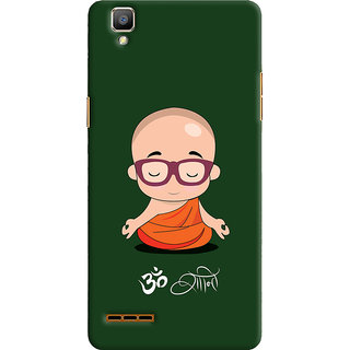 Oyehoye Oppo F1 Mobile Phone Back Cover With Om Shanti Quirky - Durable Matte Finish Hard Plastic Slim Case
