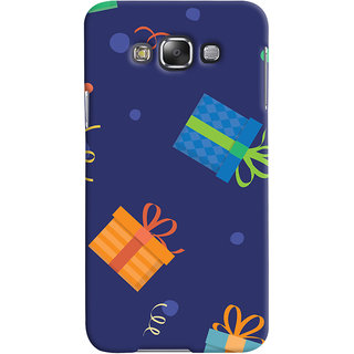 Oyehoye Samsung Galaxy E7 Mobile Phone Back Cover With Gift Pattern Style - Durable Matte Finish Hard Plastic Slim Case