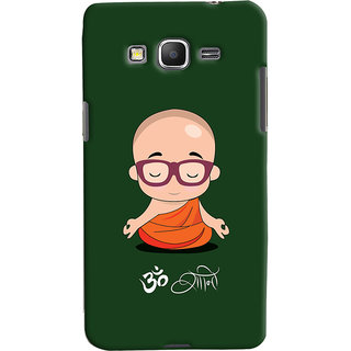 Oyehoye Samsung Galaxy Grand Prime Mobile Phone Back Cover With Om Shanti Quirky - Durable Matte Finish Hard Plastic Slim Case