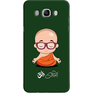 Oyehoye Samsung Galaxy J7 (2016) Mobile Phone Back Cover With Om Shanti Quirky - Durable Matte Finish Hard Plastic Slim Case
