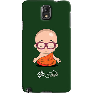 Oyehoye Samsung Galaxy Note 3 Mobile Phone Back Cover With Om Shanti Quirky - Durable Matte Finish Hard Plastic Slim Case