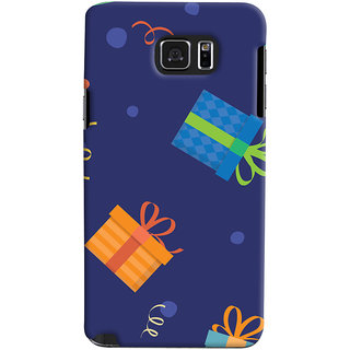 Oyehoye Samsung Galaxy Note 5 Mobile Phone Back Cover With Gift Pattern Style - Durable Matte Finish Hard Plastic Slim Case