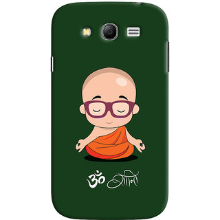 Oyehoye Samsung Galaxy Grand Neo Plus Mobile Phone Back Cover With Om Shanti Quirky - Durable Matte Finish Hard Plastic Slim Case