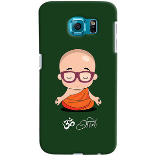 Oyehoye Samsung Galaxy S6 Mobile Phone Back Cover With Om Shanti Quirky - Durable Matte Finish Hard Plastic Slim Case