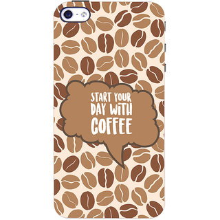 Oyehoye Apple iPhone 4 Mobile Phone Back Cover With Coffee Beans Pattern Style - Durable Matte Finish Hard Plastic Slim Case