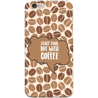 Oyehoye Apple iPhone 6S Plus Mobile Phone Back Cover With Coffee Beans Pattern Style - Durable Matte Finish Hard Plastic Slim Case