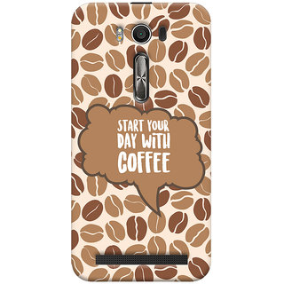 Oyehoye Asus Zenfone 2 Laser ZE500KL Mobile Phone Back Cover With Coffee Beans Pattern Style - Durable Matte Finish Hard Plastic Slim Case