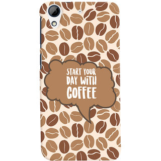 Oyehoye HTC Desire 626 / 626 G Plus Mobile Phone Back Cover With Coffee Beans Pattern Style - Durable Matte Finish Hard Plastic Slim Case