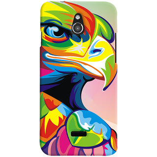 Oyehoye Infocus M2 Mobile Phone Back Cover With Animal Art - Durable Matte Finish Hard Plastic Slim Case