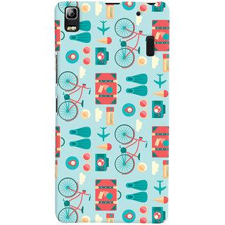 Oyehoye Lenovo K3 Note / A7000 Turbo Mobile Phone Back Cover With Holidays Pattern Style - Durable Matte Finish Hard Plastic Slim Case