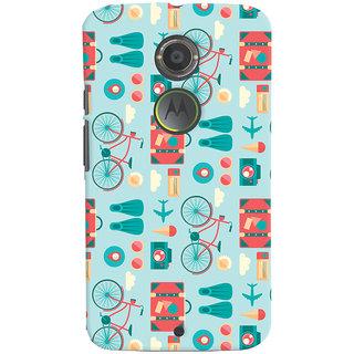 Oyehoye Motorola Moto X2 Mobile Phone Back Cover With Holidays Pattern Style - Durable Matte Finish Hard Plastic Slim Case