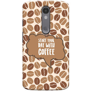 Oyehoye Motorola Moto X Force Mobile Phone Back Cover With Coffee Beans Pattern Style - Durable Matte Finish Hard Plastic Slim Case