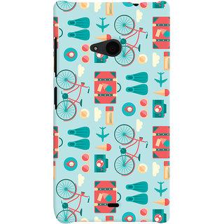 Oyehoye Microsoft Lumia 535 / Dual Sim Mobile Phone Back Cover With Holidays Pattern Style - Durable Matte Finish Hard Plastic Slim Case