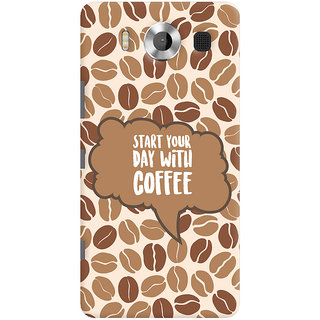 Oyehoye Microsoft Lumia 950 Mobile Phone Back Cover With Coffee Beans Pattern Style - Durable Matte Finish Hard Plastic Slim Case