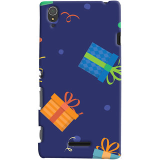 Oyehoye Sony Xperia T3 Mobile Phone Back Cover With Gift Pattern Style - Durable Matte Finish Hard Plastic Slim Case