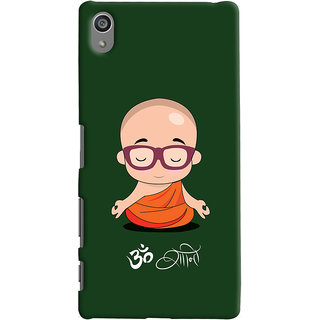 Oyehoye Sony Xperia Z5 Plus/ Z5 Premium Mobile Phone Back Cover With Om Shanti Quirky - Durable Matte Finish Hard Plastic Slim Case