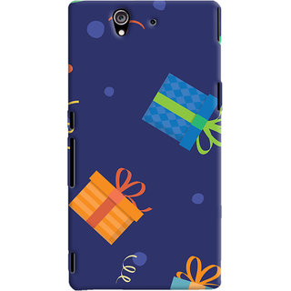 Oyehoye Sony Xperia Z Mobile Phone Back Cover With Gift Pattern Style - Durable Matte Finish Hard Plastic Slim Case