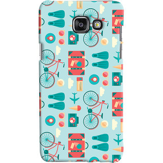 Oyehoye Samsung Galaxy A7 A710 (2016 Edition) Mobile Phone Back Cover With Holidays Pattern Style - Durable Matte Finish Hard Plastic Slim Case
