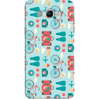 Oyehoye Samsung Galaxy J5 (2016) Mobile Phone Back Cover With Holidays Pattern Style - Durable Matte Finish Hard Plastic Slim Case