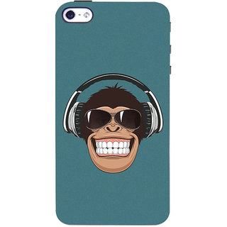 Oyehoye Apple iPhone 4 Mobile Phone Back Cover With Music Lover Quirky Style - Durable Matte Finish Hard Plastic Slim Case