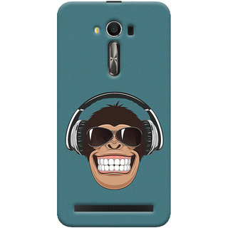 Oyehoye Asus Zenfone 2 Laser ZE550KL / Zenfone 5.5 Mobile Phone Back Cover With Music Lover Quirky Style - Durable Matte Finish Hard Plastic Slim Case