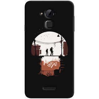 Oyehoye Coolpad Note 3 Lite Mobile Phone Back Cover With Travellers Quirky - Durable Matte Finish Hard Plastic Slim Case