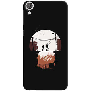 Oyehoye HTC Desire 820 Mobile Phone Back Cover With Travellers Quirky - Durable Matte Finish Hard Plastic Slim Case
