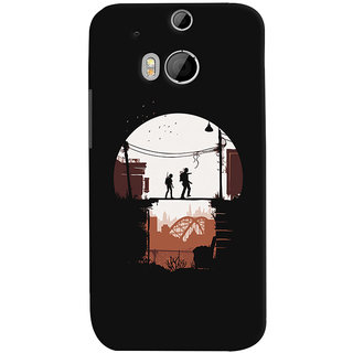 Oyehoye HTC One M8 Mobile Phone Back Cover With Travellers Quirky - Durable Matte Finish Hard Plastic Slim Case