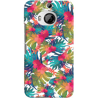 Oyehoye HTC One M9 Plus Mobile Phone Back Cover With Colourful Abstract Art - Durable Matte Finish Hard Plastic Slim Case