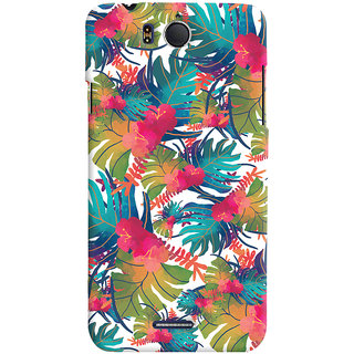 Oyehoye Infocus M530 Mobile Phone Back Cover With Colourful Abstract Art - Durable Matte Finish Hard Plastic Slim Case