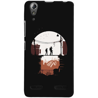 Oyehoye Lenovo A6000 Mobile Phone Back Cover With Travellers Quirky - Durable Matte Finish Hard Plastic Slim Case